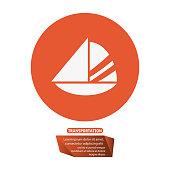 sailing boat transport pictogram