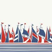 Sailing Boats Marine Pattern
