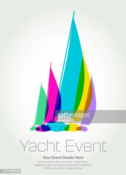 sailing boats or yachts - yachting stock illustrations