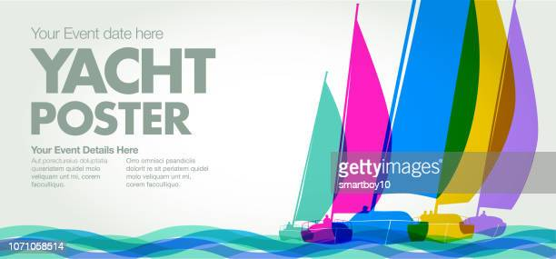 sailing boats or yachts - sailor stock illustrations