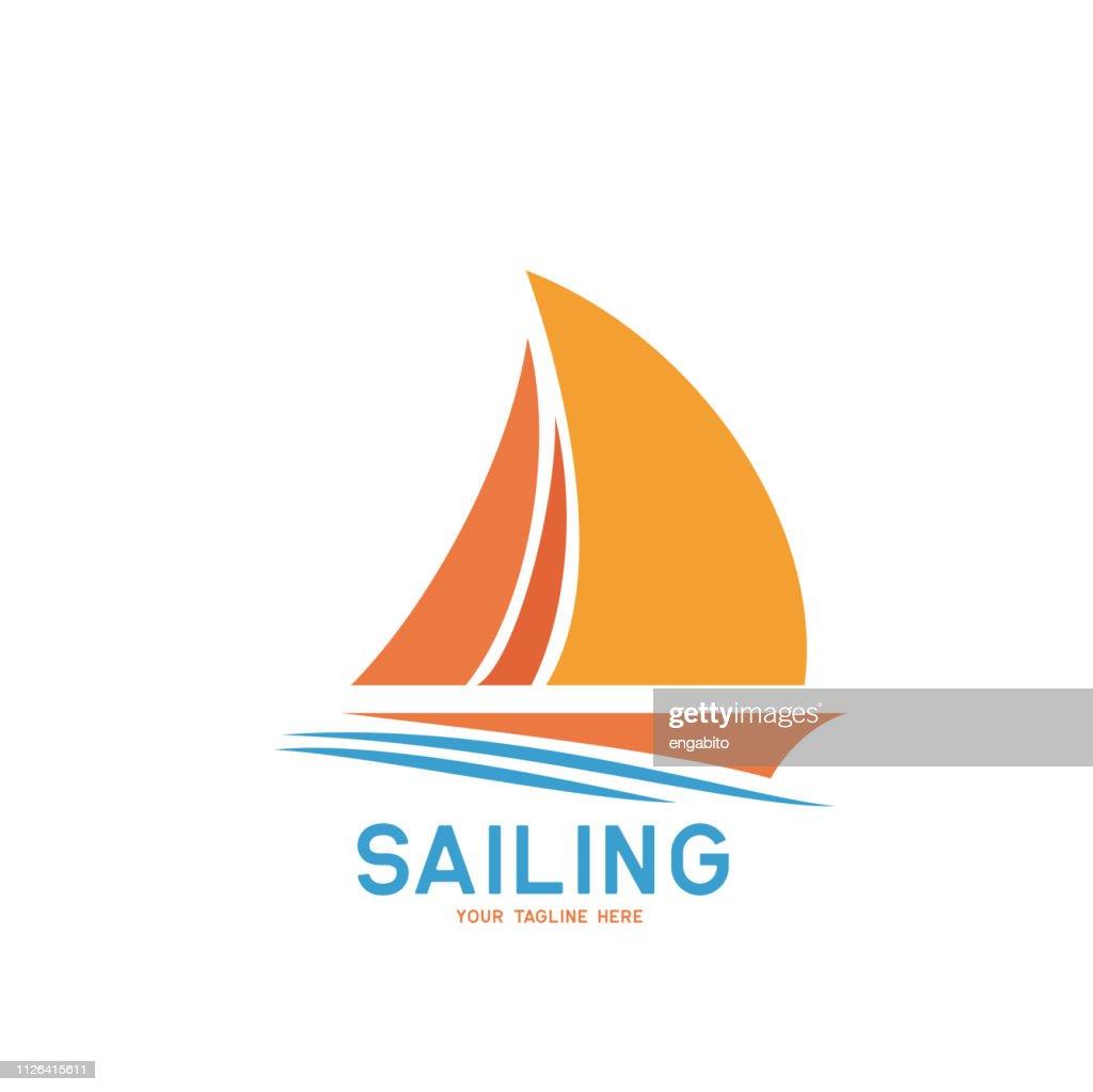 sailing icon on white background, vector illustration