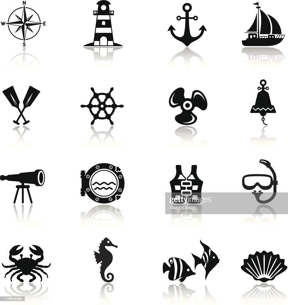 Sailing Icon Set : Vector Art