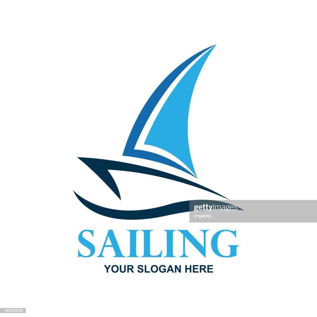 sailing icon, vector illustration