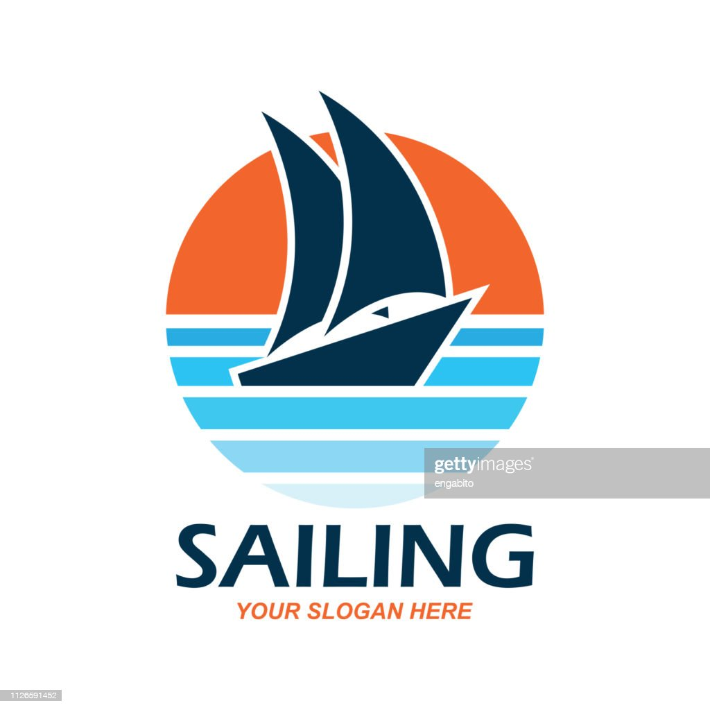 sailing icon with text space for your slogan / tag line, vector illustration