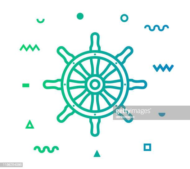 Sailing Line Style Icon Design