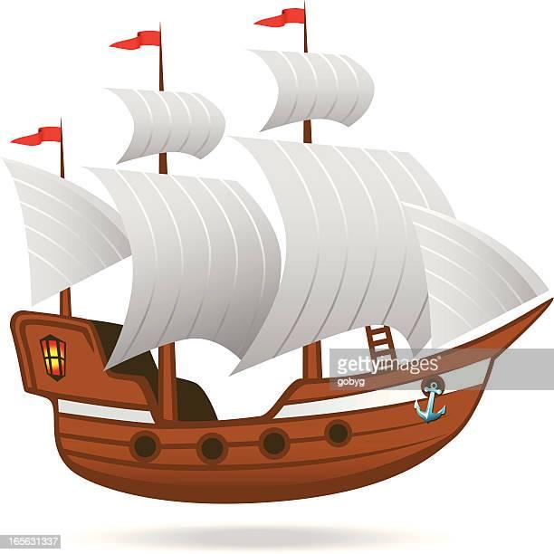 帆船 - 帆船点のイラスト素材/クリップアート素材/マンガ素材/アイコン素材