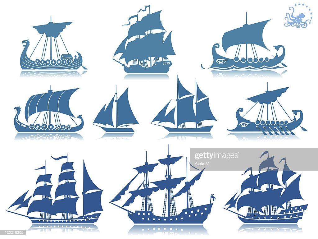 Sailing ships Iconset
