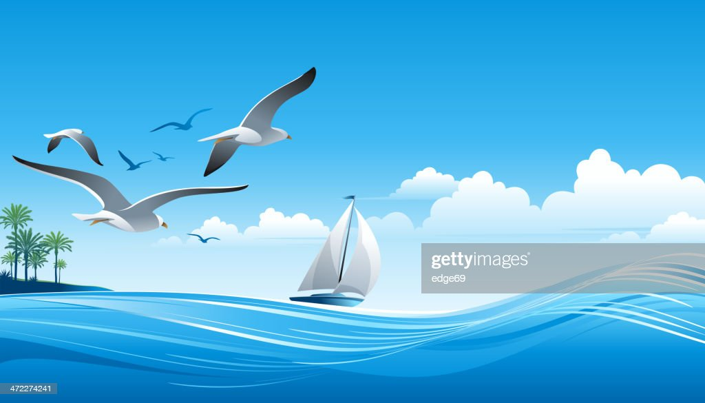 Sailing : stock illustration