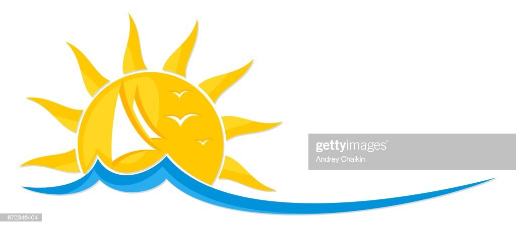 Sailing vessel with sun.