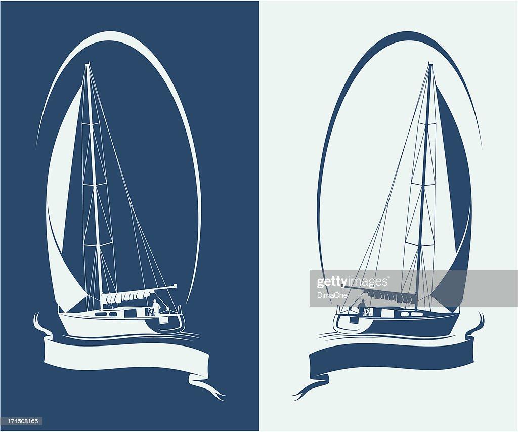 Sailing yacht : stock illustration