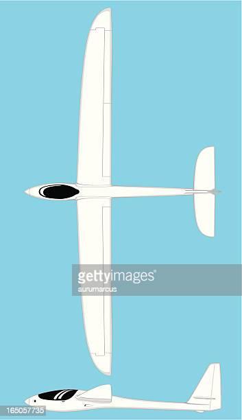 sailplane - gliding stock illustrations