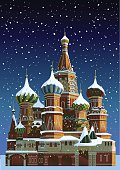 Saint Basil's cathedral at Christmas - Moscow