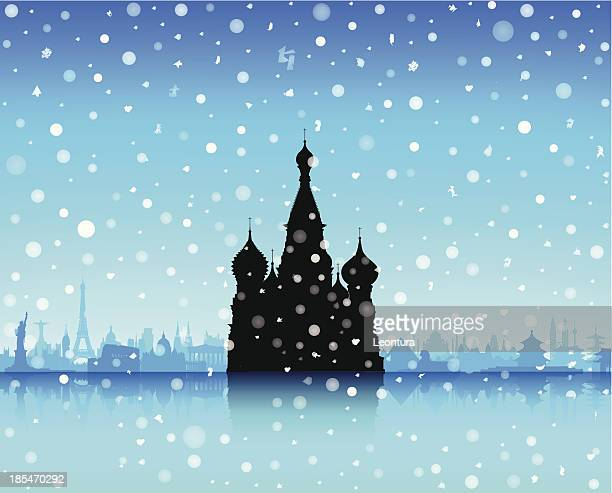 saint basil's cathedral, moscow (each building is moveable and complete) - red square stock illustrations, clip art, cartoons, & icons