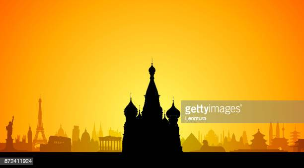saint basil's cathedral, moscow - red square stock illustrations, clip art, cartoons, & icons