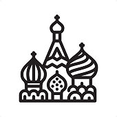 Saint Basil's Cathedral - Outline Icon - Pixel Perfect