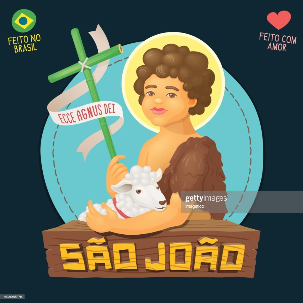 Saint John Baptist, honored in brazilian june parties - Ecce agnus dei (Behold the lamb of God)