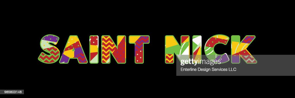 Saint Nick Concept Word Art Illustration