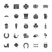 Saint Patrick Solid Web Icons