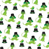 saint patricks day animal pattern