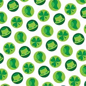 saint patricks day background pattern