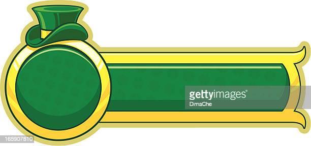 saint patrick's tag banner - saint patricks tag stock-grafiken, -clipart, -cartoons und -symbole