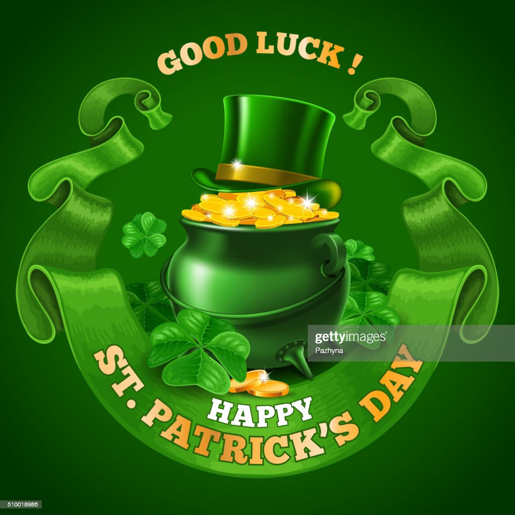 Saint Patricks Day Emblem Design