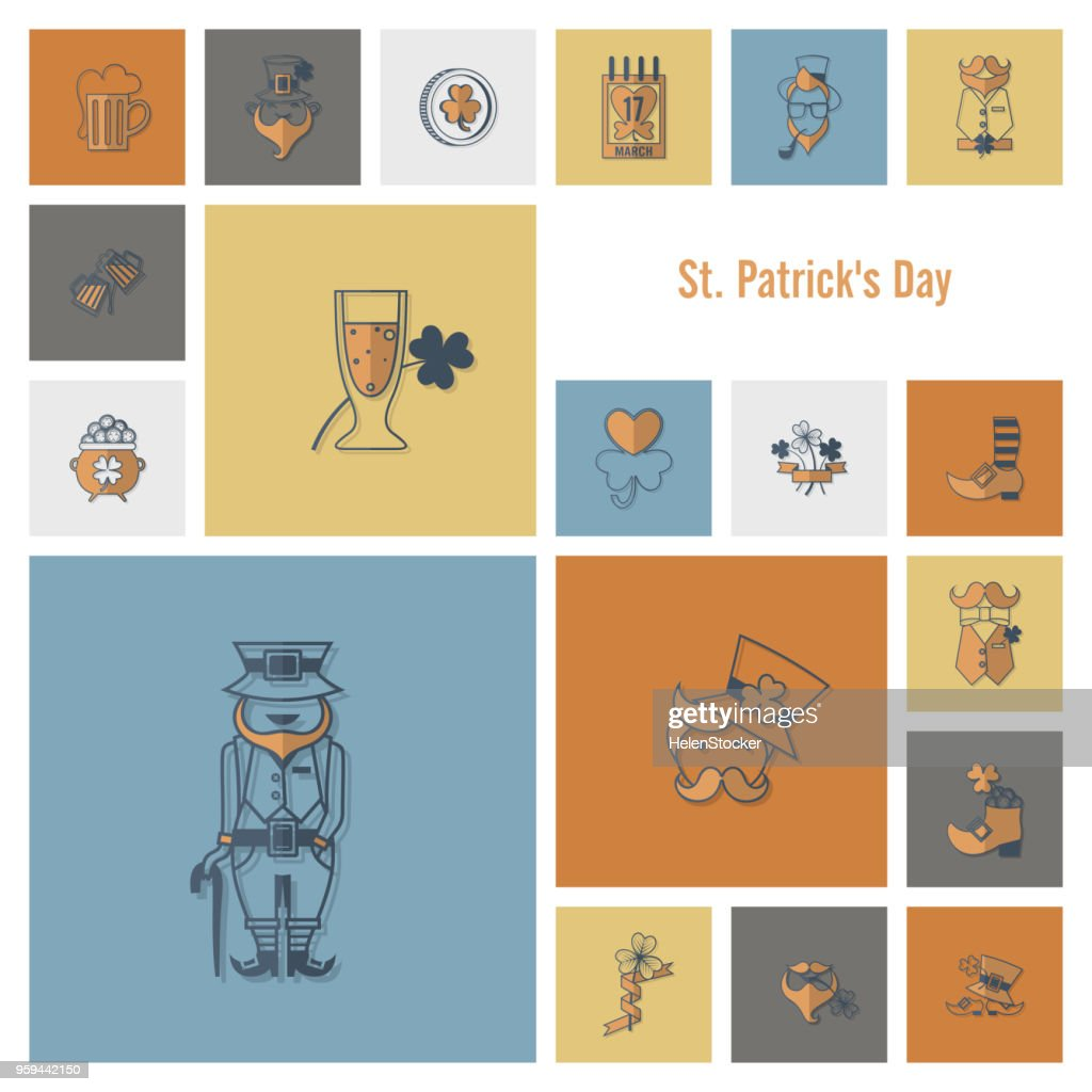 Saint Patricks Day Icon Set