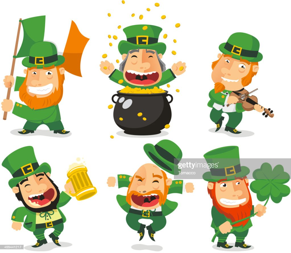 Saint Patricks Leprechauns Set 2