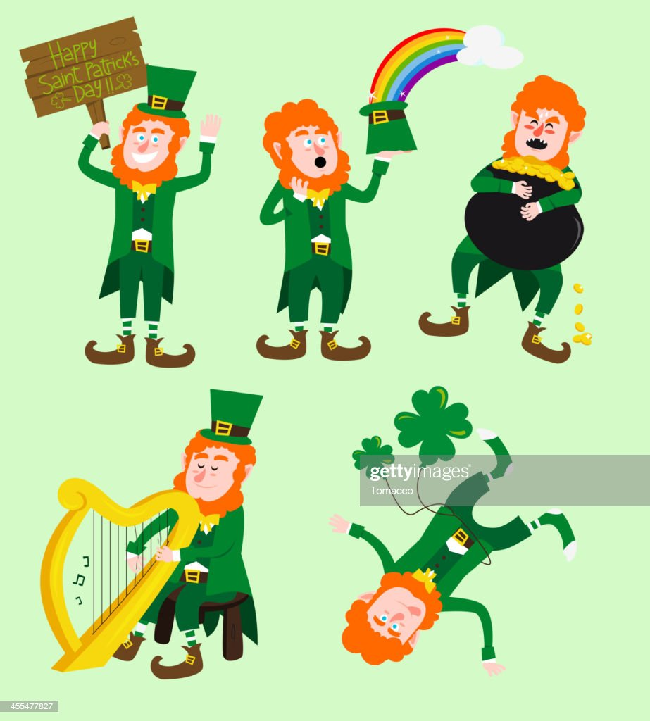 Saint Patricks Leprechauns Set