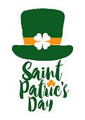 Saint Patrics Day Custom Lettering