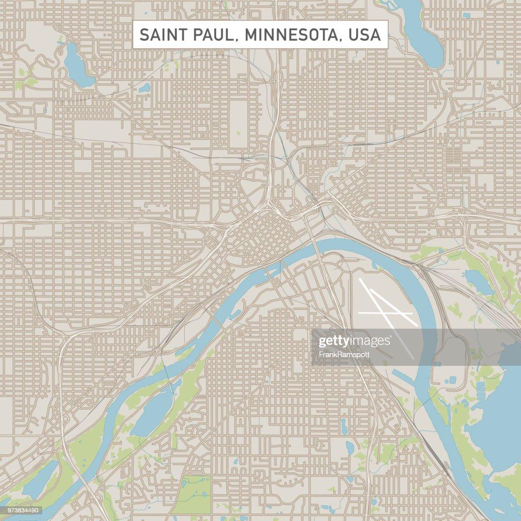 Saint Paul, Minnesota USA Stadtstraße Karte : Vektorgrafik