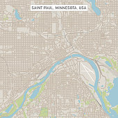 Saint Paul Minnesota US City Street Map