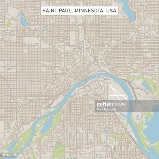 saint paul minnesota us city street map - st. paul minnesota stock illustrations