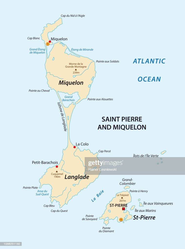 saint pierre and miquelon map,france
