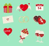 Saint Valentine's icons
