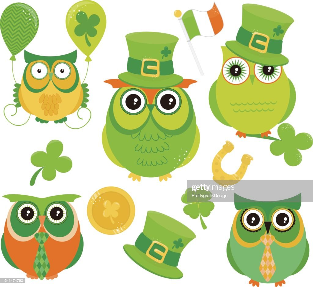 Saint-Patrick Owls - Green owl