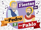 Saints Peter and Paul Celebrating with Music their Feast Days