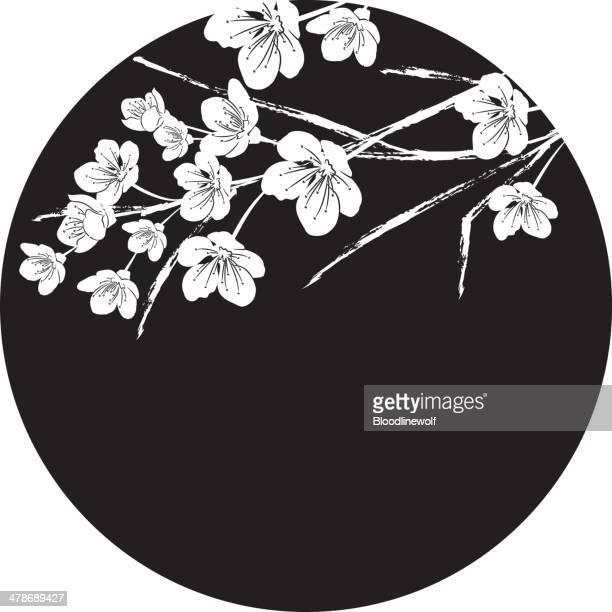 illustrations, cliparts, dessins animés et icônes de sakura circle - fleur de cerisier