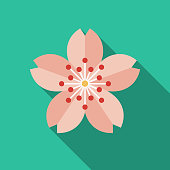 Sakura Flat Design Japan Icon