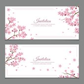 Sakura Flowers Invitation Cards
