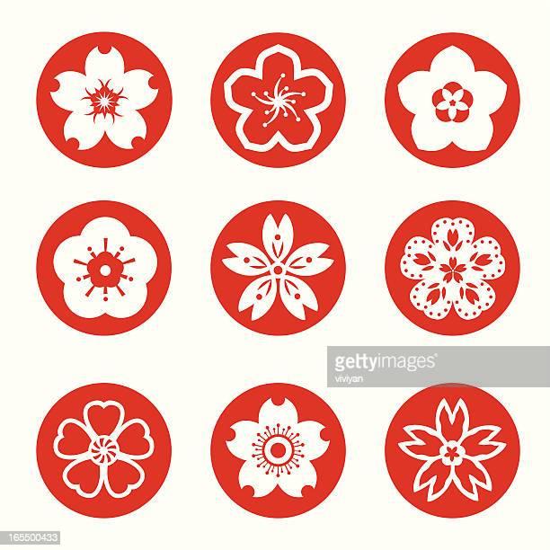 Sakura graphic elements