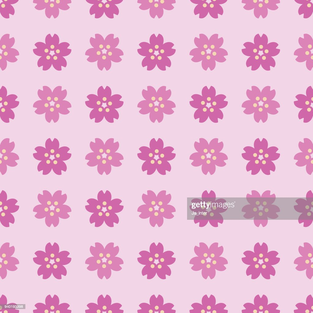 Sakura pattern background : stock illustration