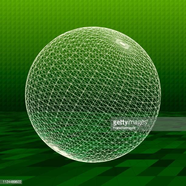 Salat abstrakte 3D-Vektor Kugel
