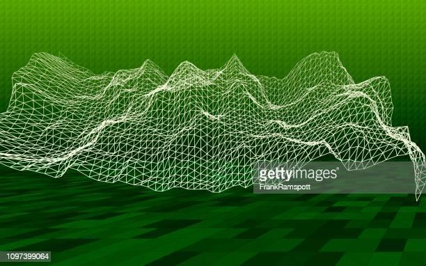 Salat 3D-Gelände Simulation Horizontal