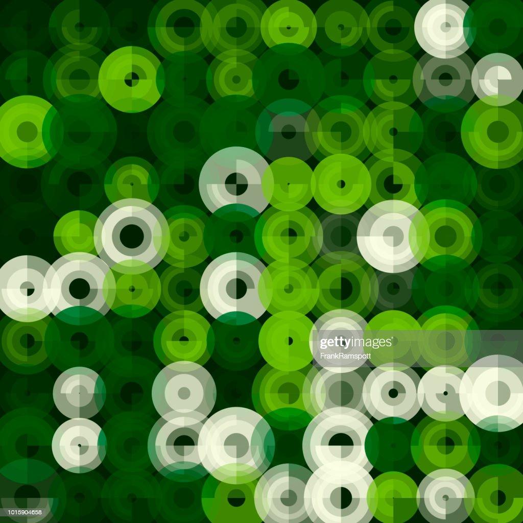 Salat-abstrakten Kunst Kreismuster : Vektorgrafik