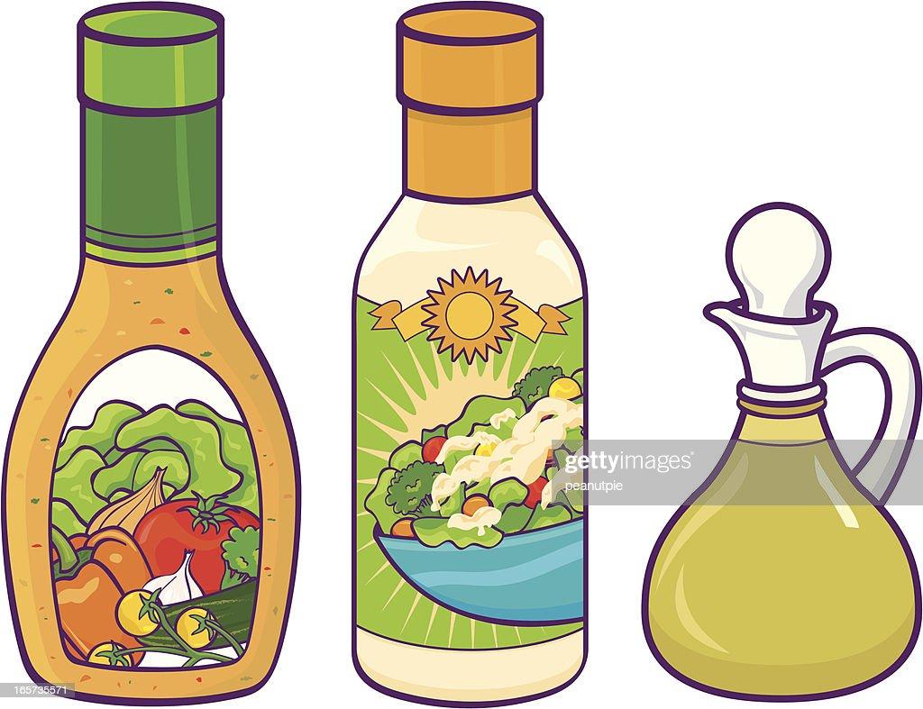 Salad dressing : stock illustration