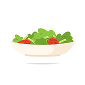 Salad icon vector isolated