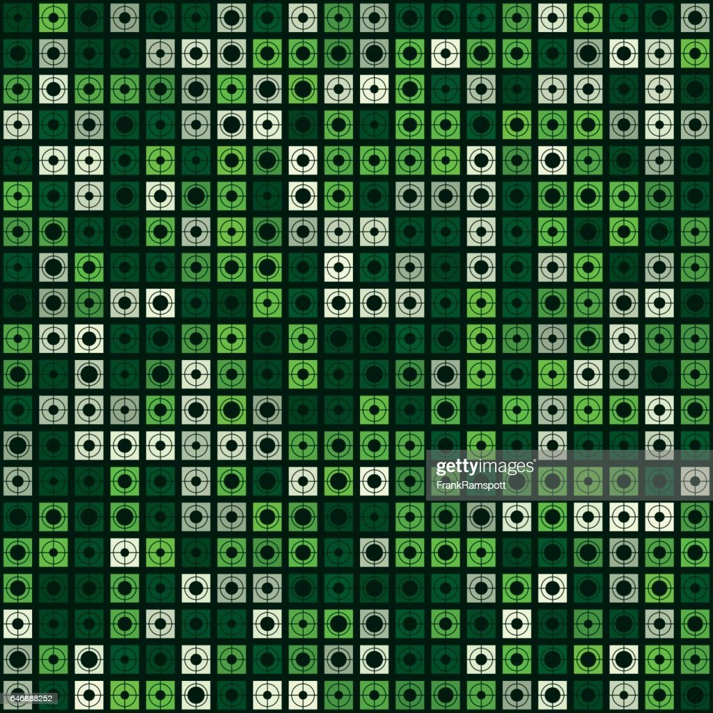 Vector Zielmuster Salat Square Circle : Stock-Illustration