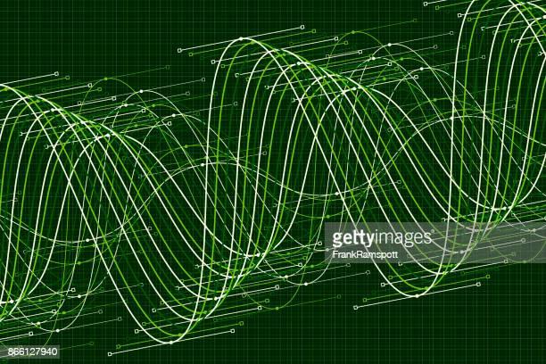 Salat Vektor Sinuswelle Graph Muster Horizontal