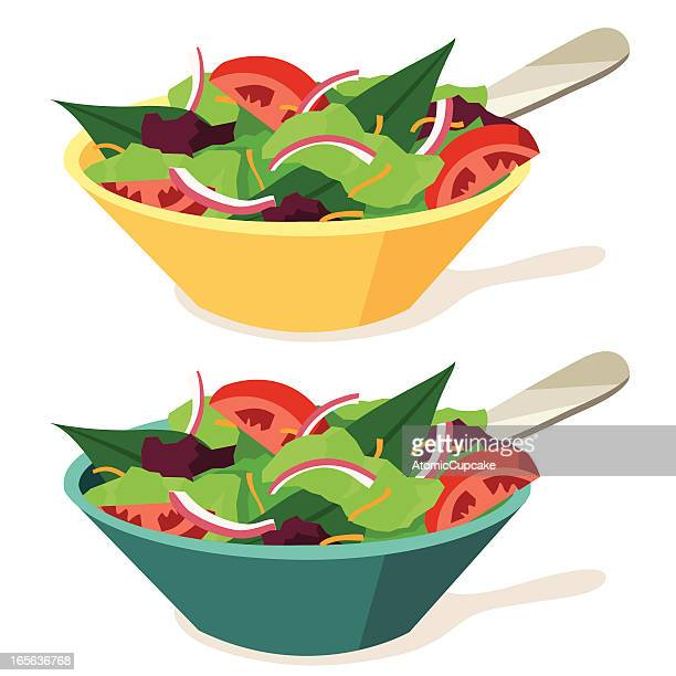 salads - salad stock illustrations